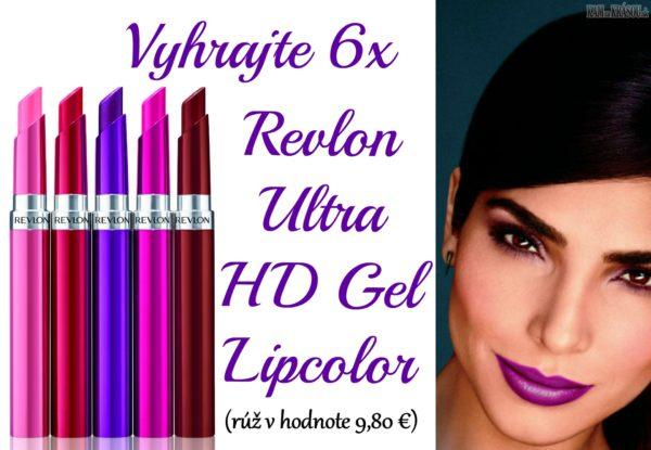 Vyhrajte 6x Revlon Ultra HD Gel Lipcolor (rúž v hodnote 9,80 €)