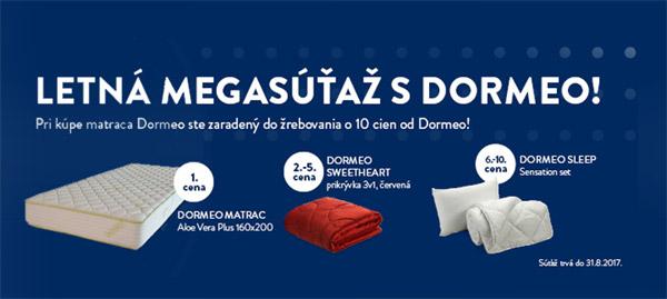 Vyhrajte s matracmi DORMEO 10x vybavenie spálne DORMEO!