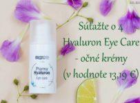 Súťažte o 4 Hyaluron Eye Care - očné krémy
