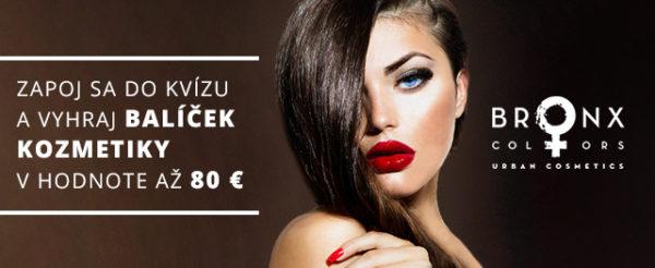 Vyhraj balíček kozmetiky BRONX COLORS