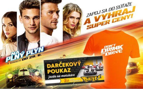 Vyhrajte filmové tričko alebo voucher od Kart One Arena na jazdu na motokáre