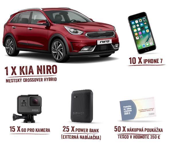 Nakupujte v Tescu s Clubcard a vyhrajte mestský crossover KIA NIRO!