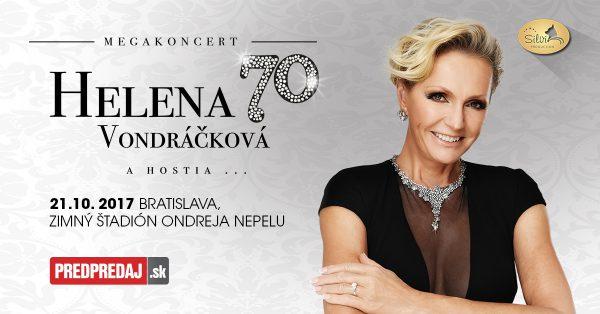 Súťaž o 2 lístky na megakoncert speváčky Heleny Vondráčkovej