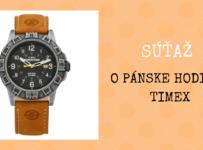 Súťaž o pánske športové hodinky Timex T49991 z kolekcie Expedition