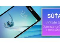 Vyhrajte tablet samsung galaxy a dalšie superceny