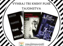 Vyhraj tri knihy plne tajomstva