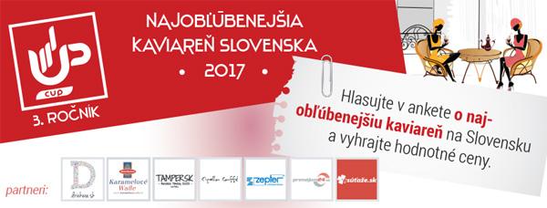 Najobľúbenejšia kaviareň na Slovensku 2017, vyhrajte hodnotné ceny