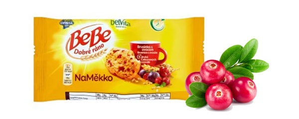 Súťažte o 3 balenia so špaldovými sušienkami BeBe Dobré ráno NaMäkko brusnica s ovocím!