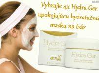 Vyhrajte 4x Hydra Ger upokojujúcu hydratačnú masku na tvár