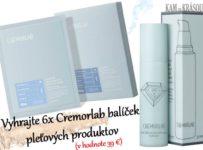Vyhrajte 6x Cremorlab balíček pleťových produktov (v hodnote 39 €)