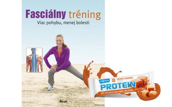Súťaž o balíček s knihou Fasciálny tréning a tyčinkami MAX SPORT