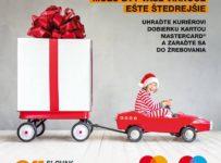 Vianočná akcia Mastercard a Slovak Parcel Service, vyhrajte 100 alebo 250€