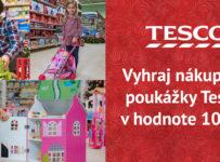 Vyhraj nákupné poukážky do Tesca v hodnote 100 €