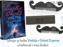 Vyhrajte 3x knihu Agatha Christie - Vražda v Orient Exprese a fúziky