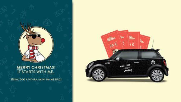 Získaj 20 € a vyhraj MINI na mesiac! Nezabudni cez Vianoce na seba