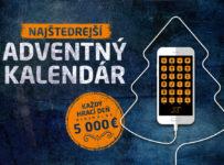 Najštedrejší adventný kalendár, vyhrajte denne minimálne 5.000 €