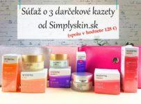 Súťaž o 3 darčekové kazety od Simplyskin.sk
