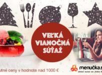 Veľká Vianočná súťaž na Menucka.sk