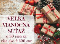 Veľká vianočná súťaž na KAMzaKRASOU.sk o 30 cien v hodnote 2500 €