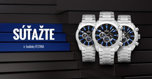 Súťaž o luxusné pánske hodinky Festina