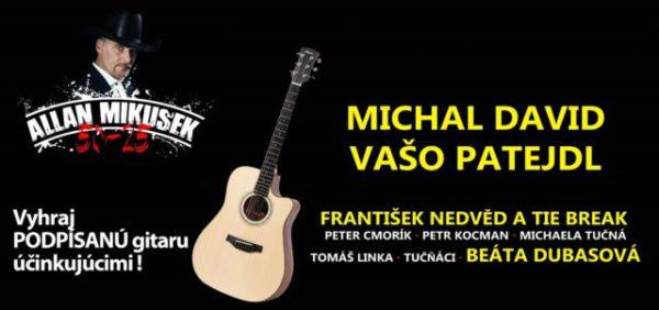 Súťaže o lístky na Galakoncert Allan Mikušek 50-25 + hostia