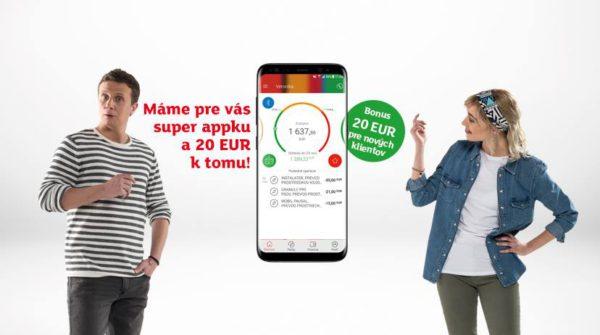 Získajte odmenu 20€, založte si mKonto ešte dnes!