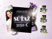 Súťaž o skvelú prírodnú kozmetiku PRIODY v celkovej hodnote 3.150€