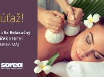 Súťaž o 5x relaxačný balíček v TERMAL raj – Hotel SOREA MÁJ