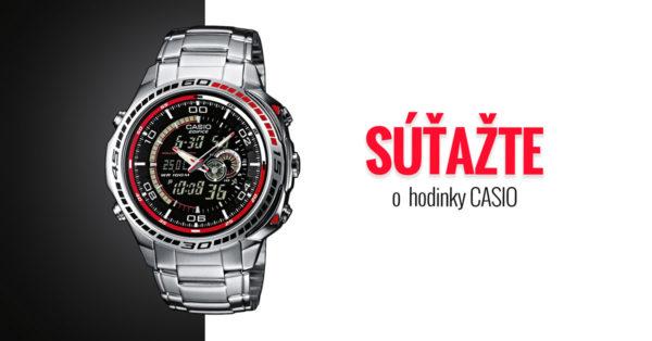 Súťažte o pánske hodinky Casio Edifice EFA-121D-1A