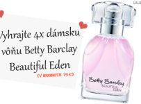 Vyhrajte 4x dámsku vôňu Betty Barclay Beautiful Eden