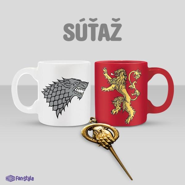 Vyhrajte originálne hrnčeky a kľúčenku Game of Thrones