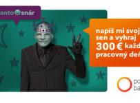 Napíš o čom snívaš a vyhraj 300 € od Poštovej banky