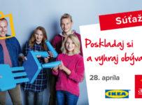 Poskladaj si a vyhraj obývačku IKEA za 3 000 eur