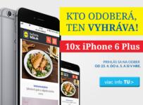 Súťaž s Newslettrom Kuchyne Lidla o iPhone 6 Plus