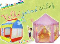 Súťaž o dva detské stany na hranie