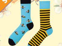 Vyhrajte Veselé ponožky s včielkami