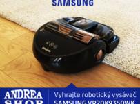 Vyhrajte robotický vysávač Samsung s najsilnejším sacím výkonom na svete