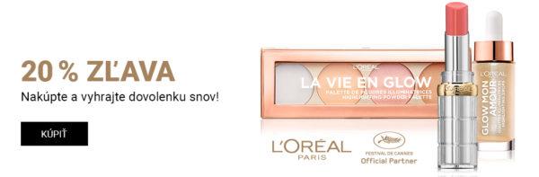 Súťaž o výlet do Cannes v hodnote 1180 € alebo 1 zo 4 poukazov na nákup produktov L'Oréal Paris v hodnote 200 €
