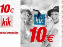 Zapojte sa do súťaže o 3 x 10€ poukážky KiK