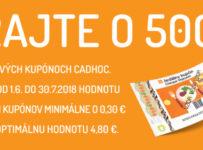 Hrajte o 500 € v darčekových kupónoch