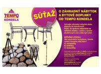 Súťaž o záhradný nábytok a bytové doplnky od Tempo kondela