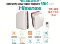 Súťaž o prenosnú klimatizáciu Hisense