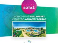 Vyhrajte 2 celodenné vstupy do AquaCity Poprad