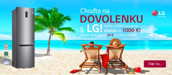 Získajte darček k nákupu a choďte na dovolenku s LG