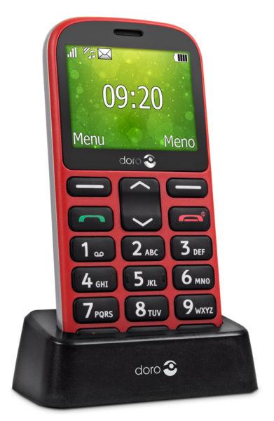 Súťaž o 2 mobilné telefóny pre seniorov Doro 1360 v bielej alebo červenej farbe