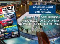 Súťaž o 2 vstupenky do bazénového Wellness sveta Patince s auto motor a šport