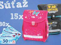 Súťaž o 15 školských tašiek a 30 nákupných poukážok v hodnote 30 €