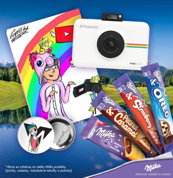 Vyhraj s Milkou JBL reproduktory alebo Polaroid a darčeky od Expla s Matúšom