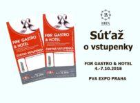 Súťaž o 12x2 vstupenky na medzinárodný veľtrh FOR GASTRO & HOTEL