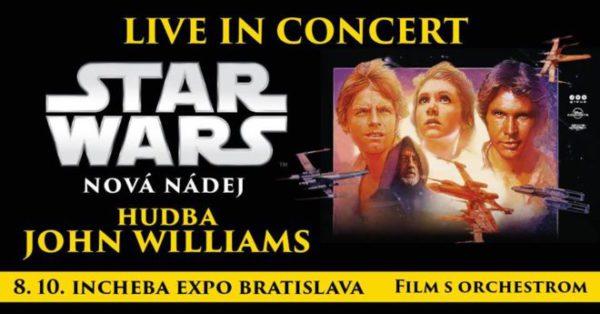 Vyhraj lístky na Star Wars - Nová nádej, film so živou hudbou